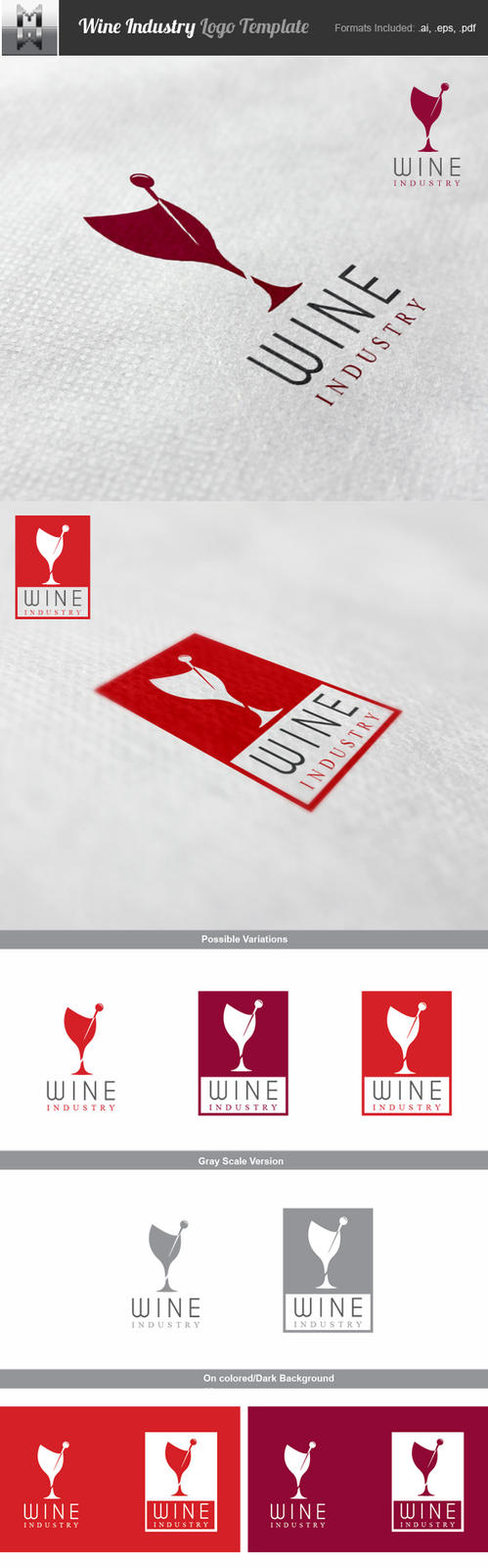 Wine Industry Logo Template by mindwilys
