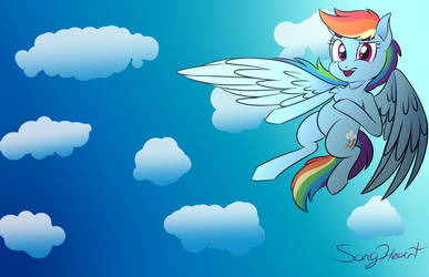 Rainbow Dash by SongheartVa