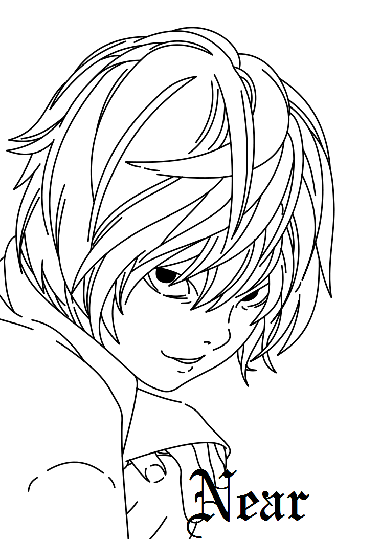 deathnote coloring pages - photo#34