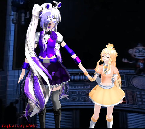 MMD Sister Location FunTime Freddy And Bon By TashaPlaysPC