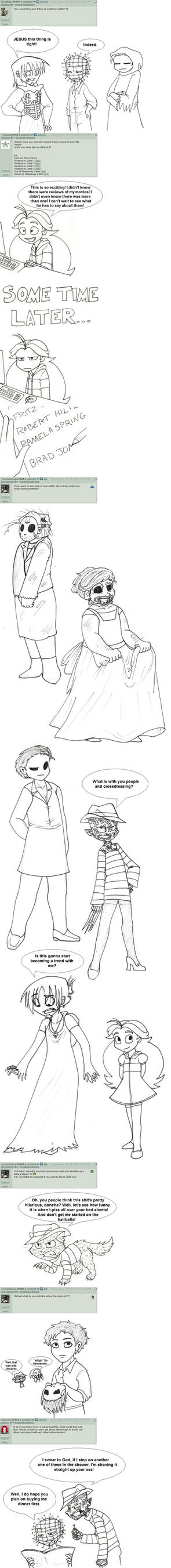 Ask The Slashers Answers Vol. 3 by thedarklordkeisha