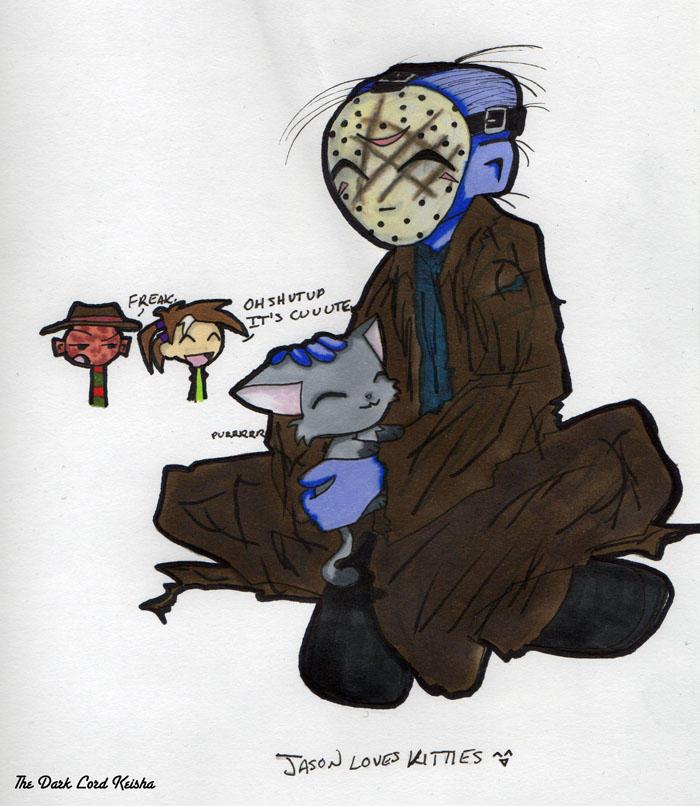 Jason loves kitties by thedarklordkeisha