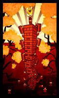Soviet Jenga Tower of Babel by Zebbedy42