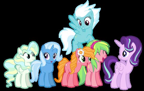 MLP AU - Glimmerverse Main Characters