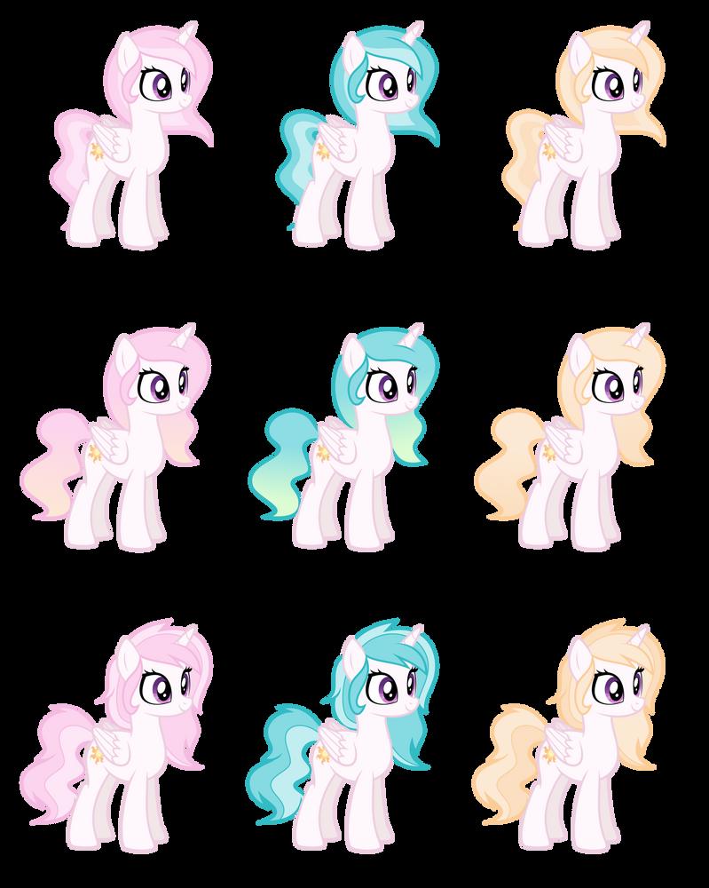 Celestia designs by BubblestormX