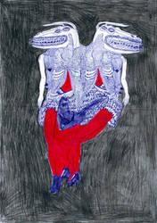 Two-head monster by JOJOKYRA