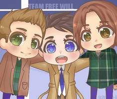 SPN: Team Free Will by Ween-E