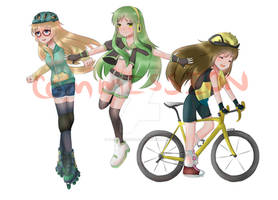 (CM) Misaki, Ryoko and Satoko
