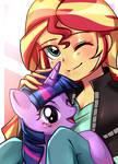 Sunset and Pony Twilight