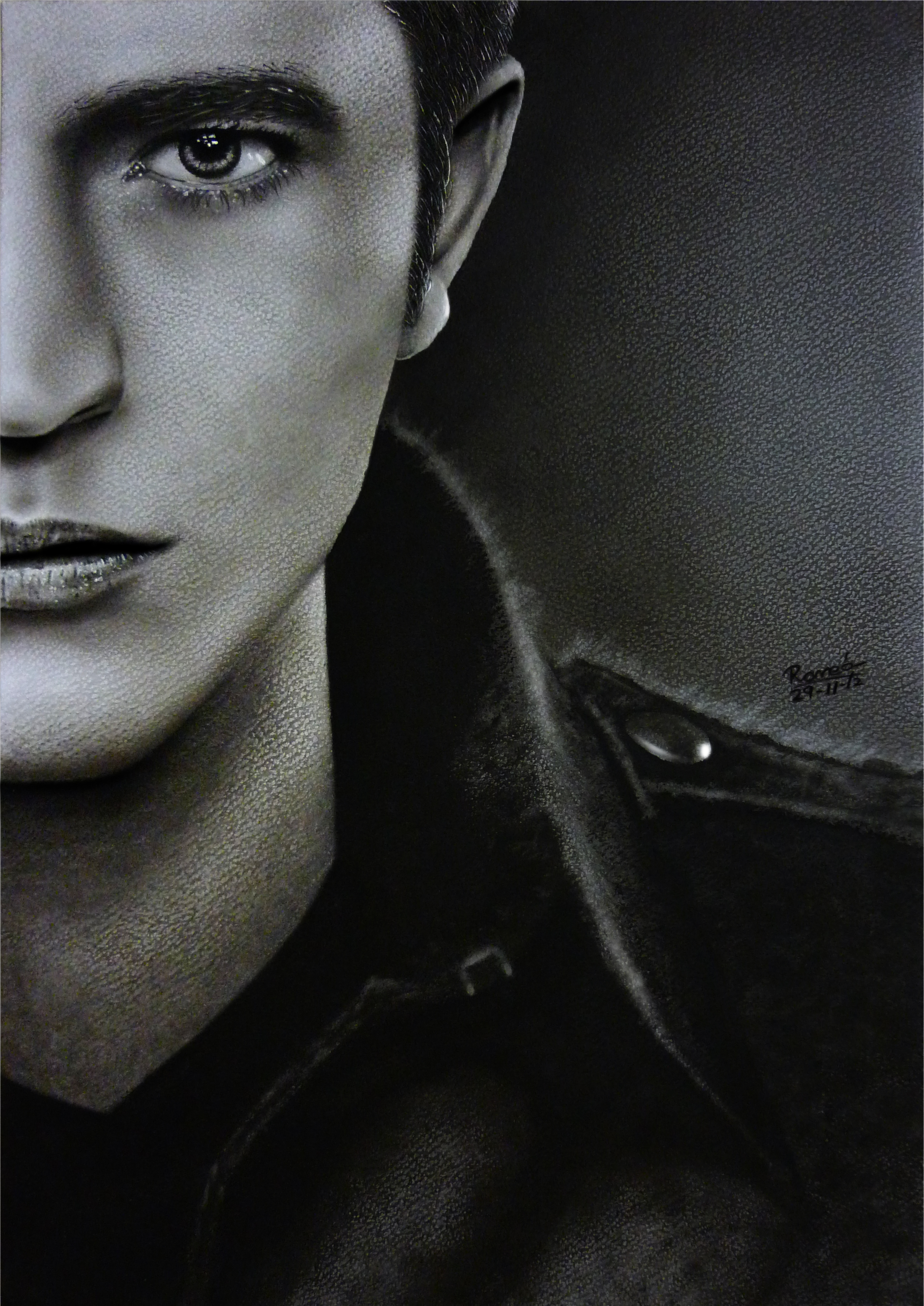 Robert Pattinson, Edward Painting -Breaking Dawn 2 by Romeoartist