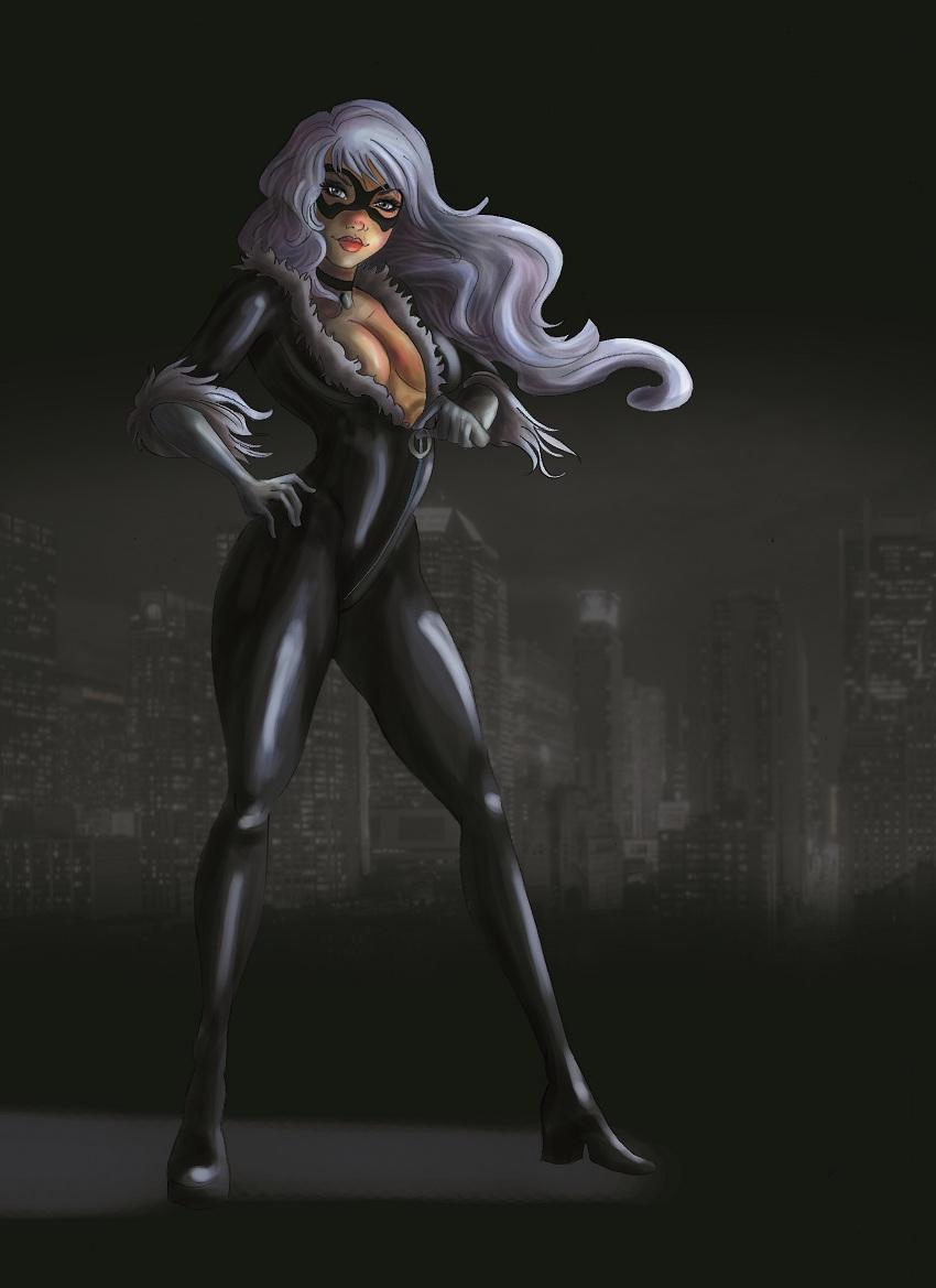 Black Cat Marvel By Vallyfran On Deviantart