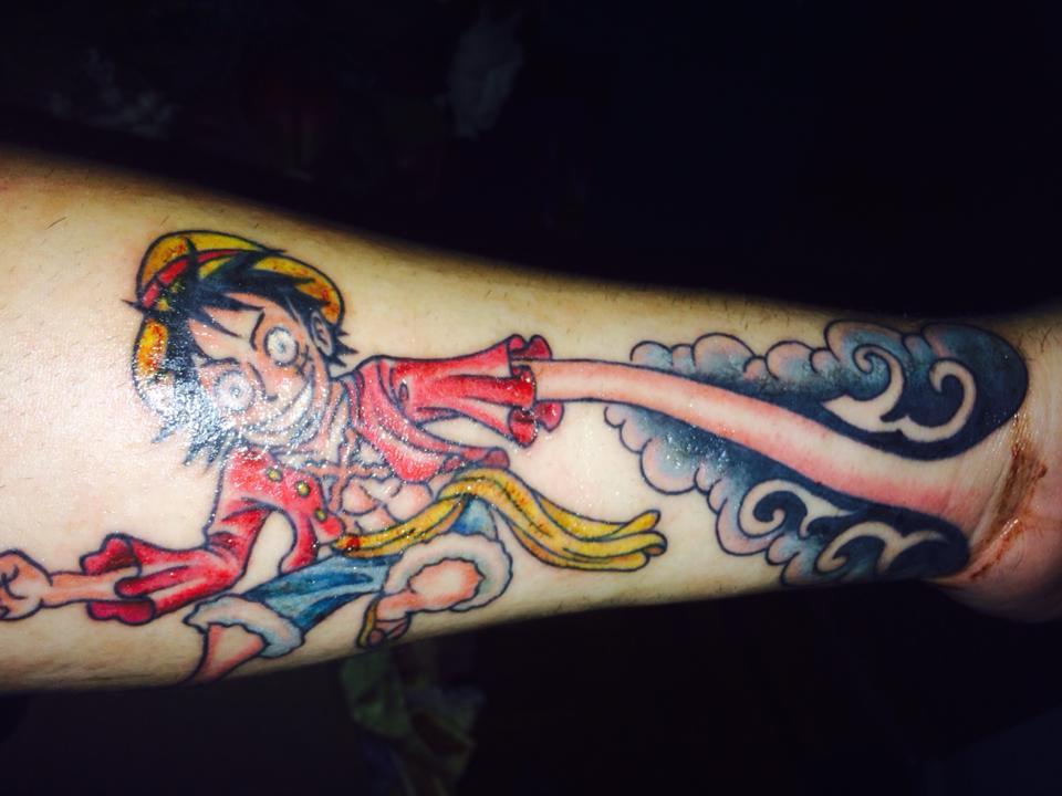 One Piece Hand Tattoo: Anime Sleeve With Luffy Hand. : HelpMeFind