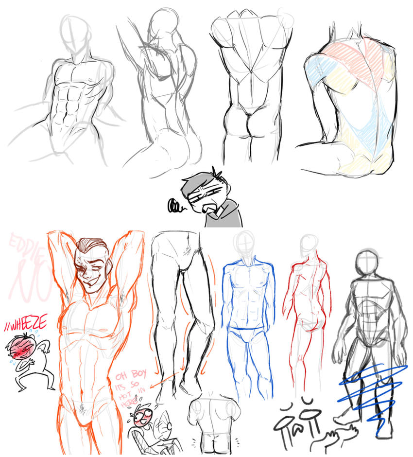 Male anatomy practice by smollereii on DeviantArt