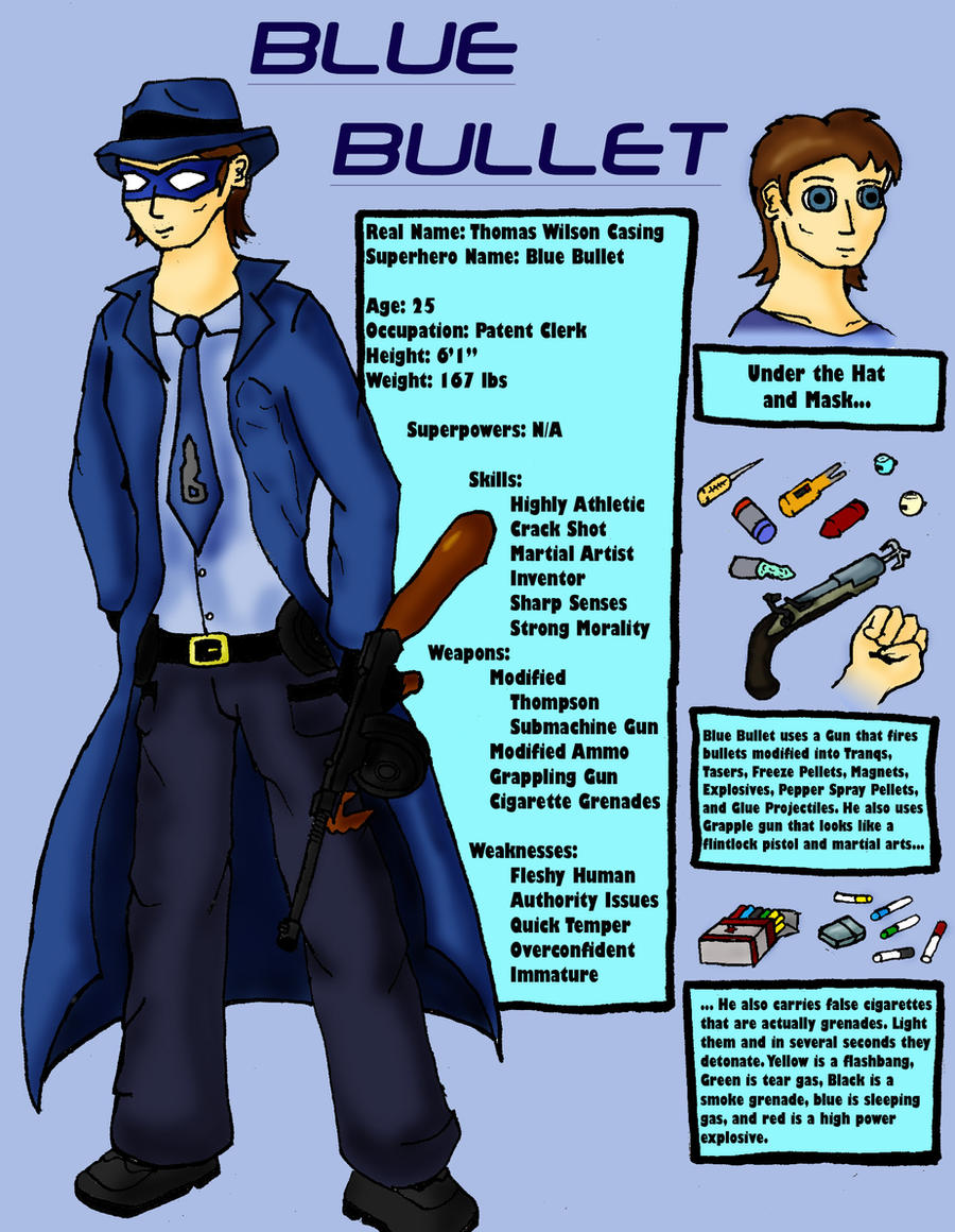 Blue Bullet: Cobalt Crack Shot by Midnight-Cobra
