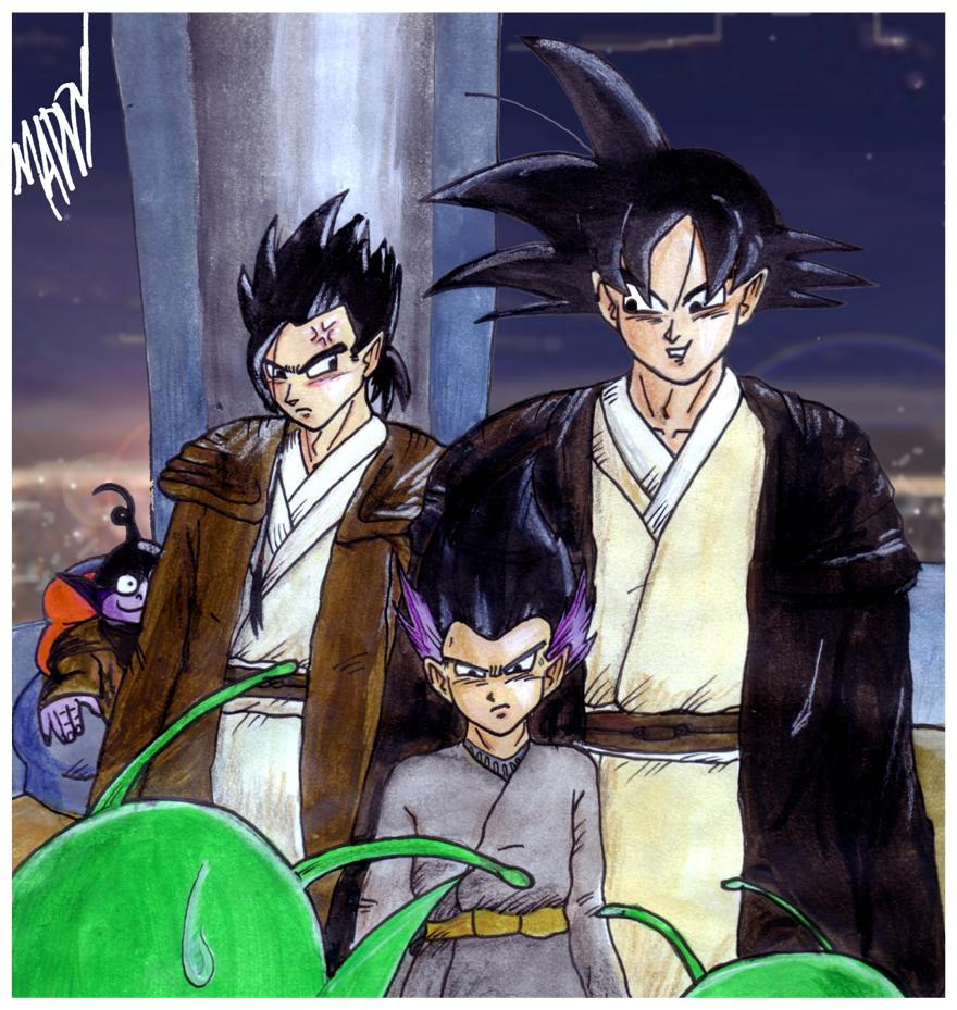 Images découvertes [Fanarts Dragon Ball] DRAGON_WARS_The_New_Padawan_by_light_sabe_r
