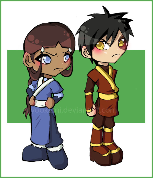 Romantic Pictures - Page 3 Katara_and_Zuko_chibis_by_icyookami