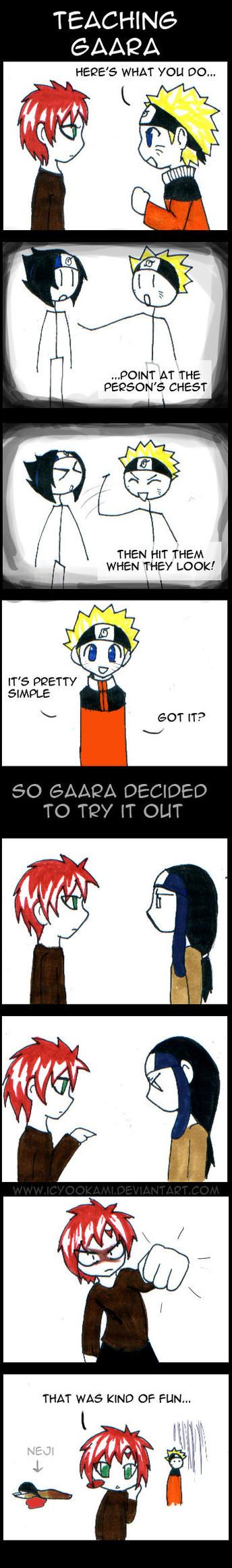 Teaching Gaara by icyookami