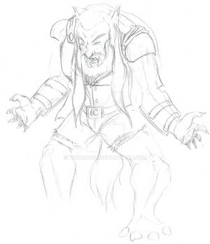 Wolfang Lycan Transformation Sketch
