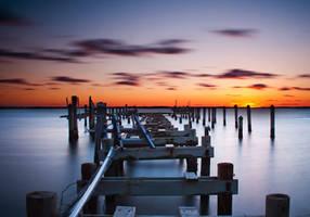 Steam After Sundown by Enkphoto