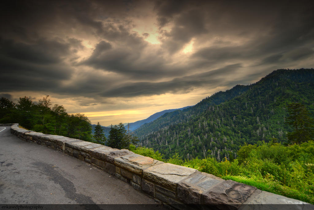 Smoky Mountain Sunset by Enkphoto