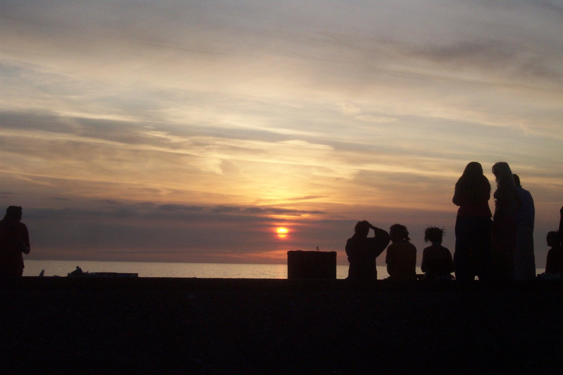 sunset Borth