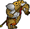 Spritetober day 9 - Hyena Warrior by burudiman