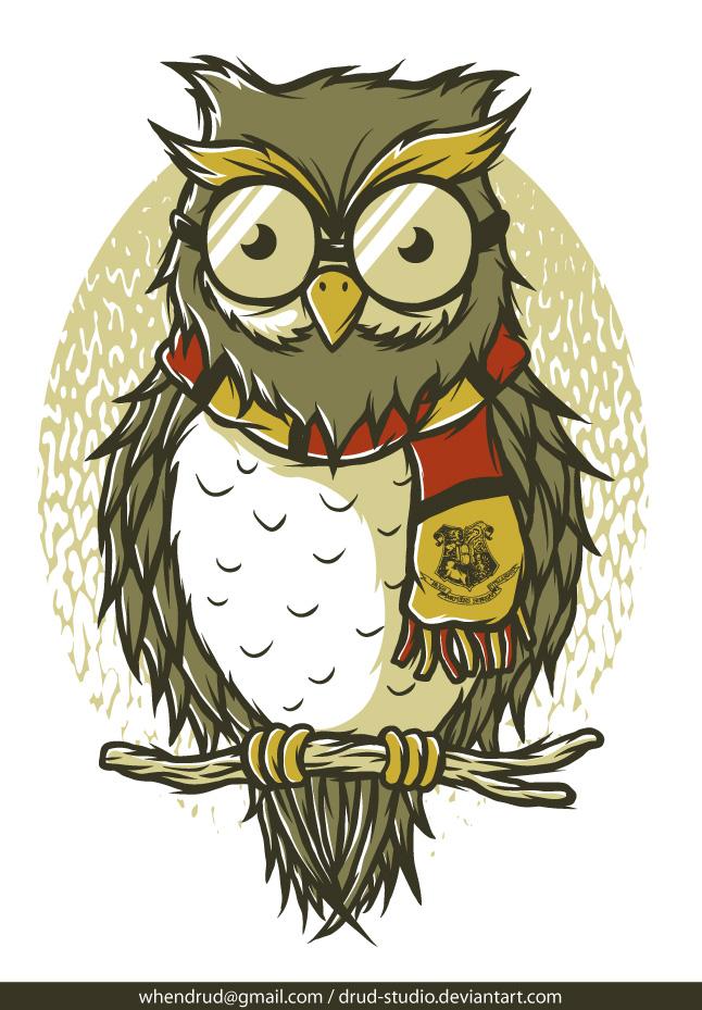 hogwarts owl by drudstudio on deviantart