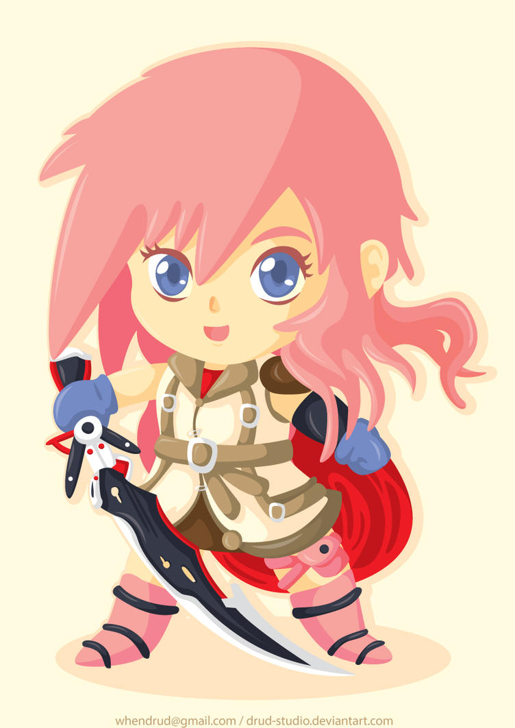 Lightning FF XIII Chibi by drud-studio