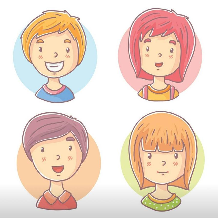 teen characters by drud-studio
