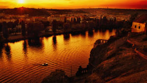 We found our sunset in Prague