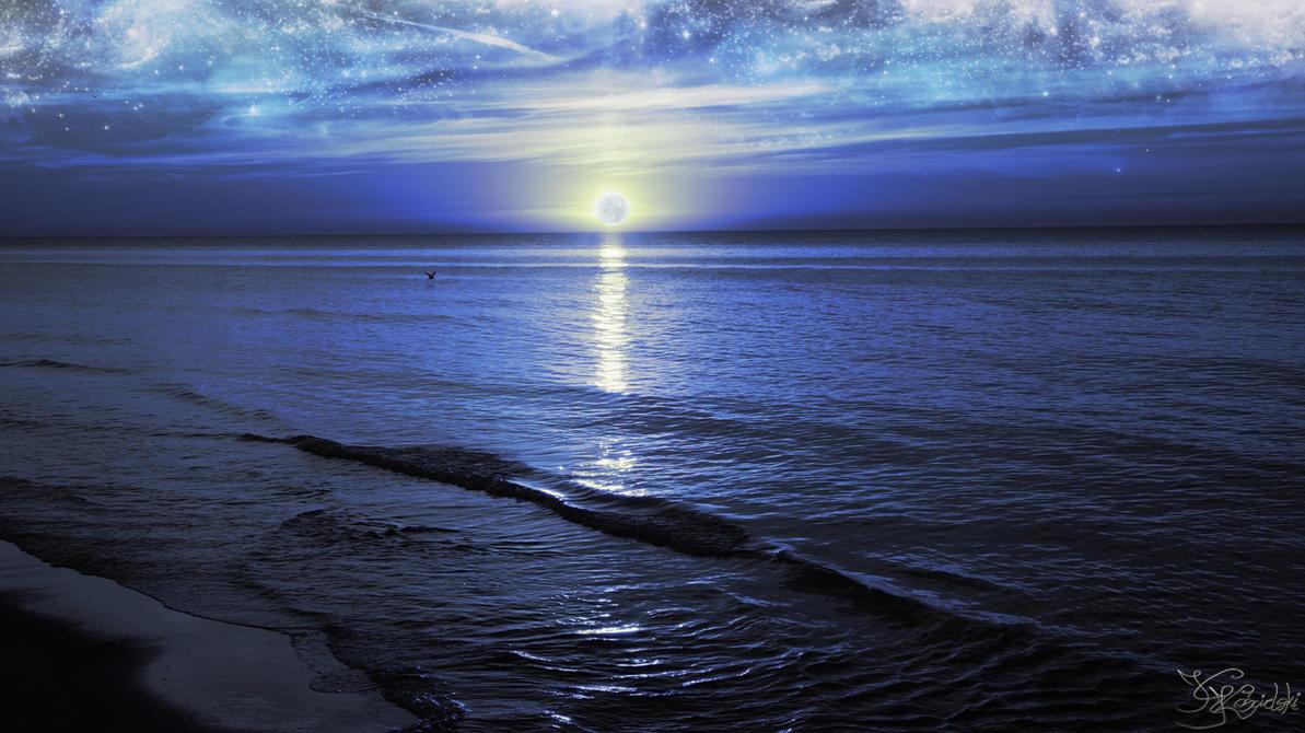 The night, the light, the sea by kriskeleris