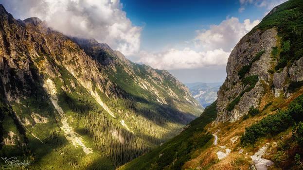 Through mountains and valleys