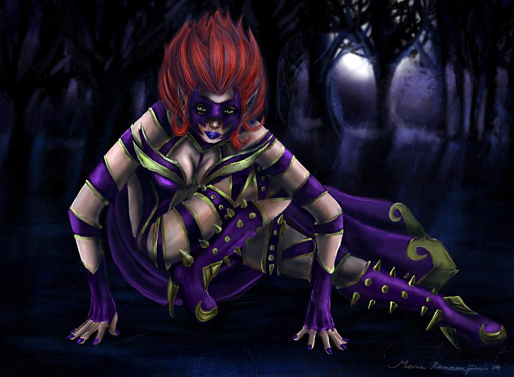 Happy harrowing - Masquerade Evelynn by Zenilla94 on ...