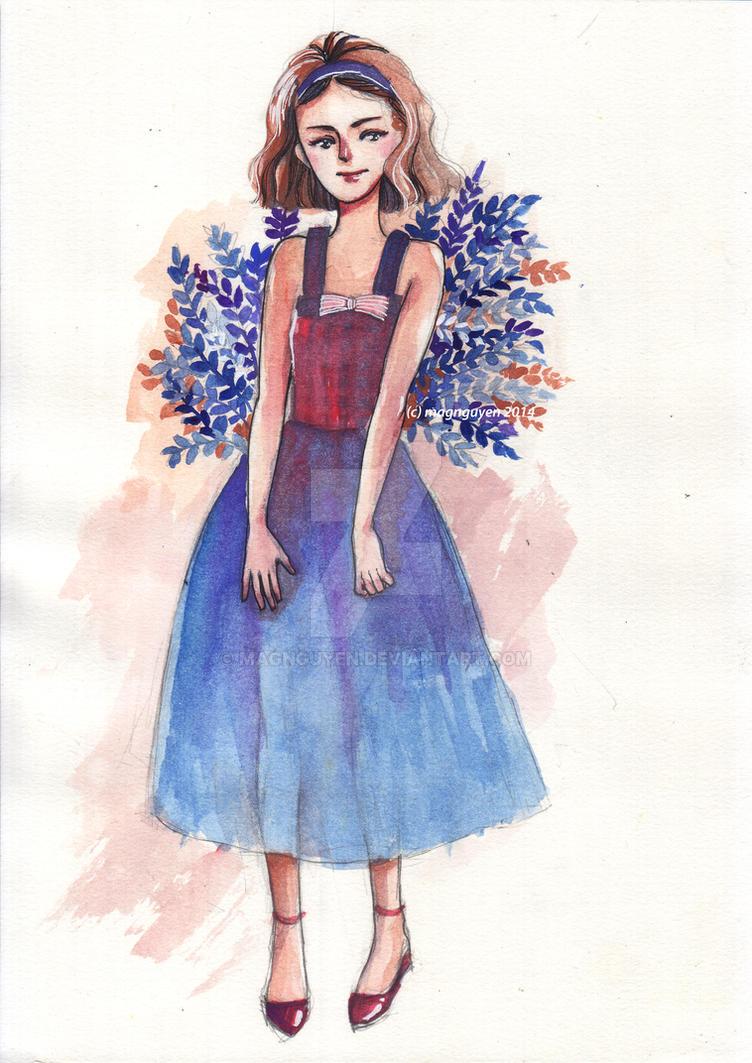 Blue dress by Magnguyen