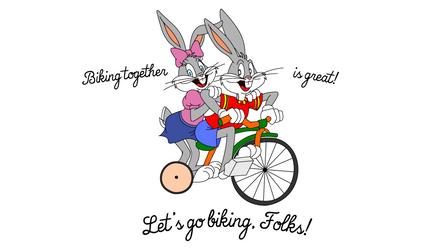 Bugs Bunny and Honey Bunny biking by Ivellios1988