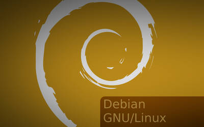 Debian Silver And Gold Wallpaper