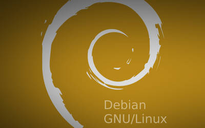 Debian Silver And Gold Clean Wallpaper