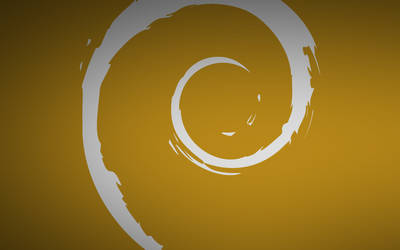 Debian Silver And Gold Just Swirl Wallpaper