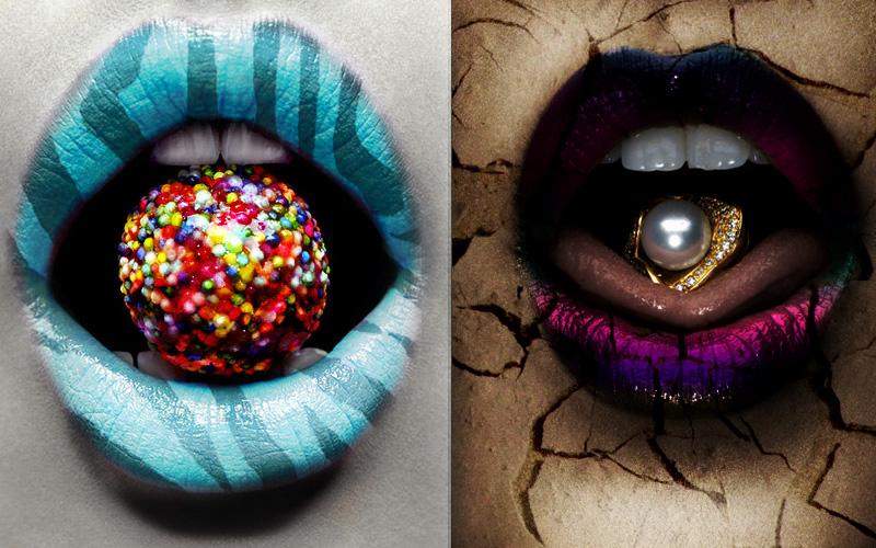Lip Art Designs : Double lip art by kitty chan knight on deviantart
