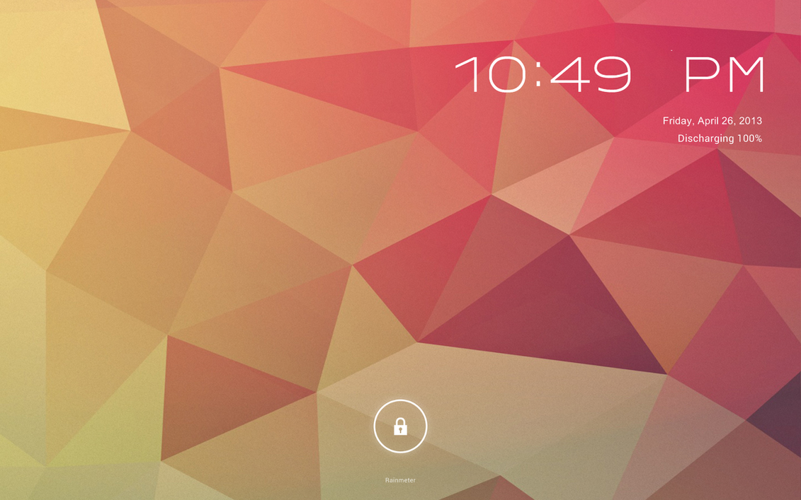 WIP Android Jelly Bean for Rainmeter V2 Lockscreen by ScoobSTiAndroid Jelly Bean Lock Screen Wallpaper