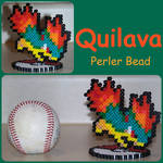 Gift To MaypleLeaf-Quilava PC Sprite Perler Bead