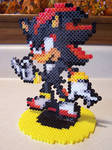 Shadow The Hedgehog Perler Bead by XxDessysaurxX