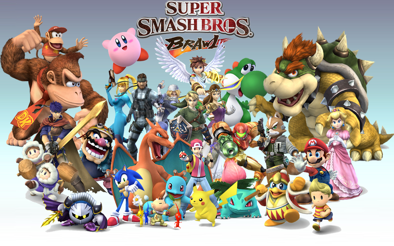 Super Smash Bross Brawl . La merveille de  Nintendo ! Wallpaper_by_hitman047m4