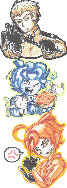 hetalia- Stickers #3 by CarolconC