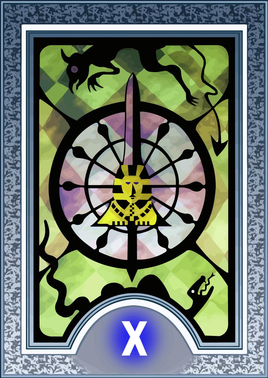 Persona Tarot Card HD - The Wheel of Fortune