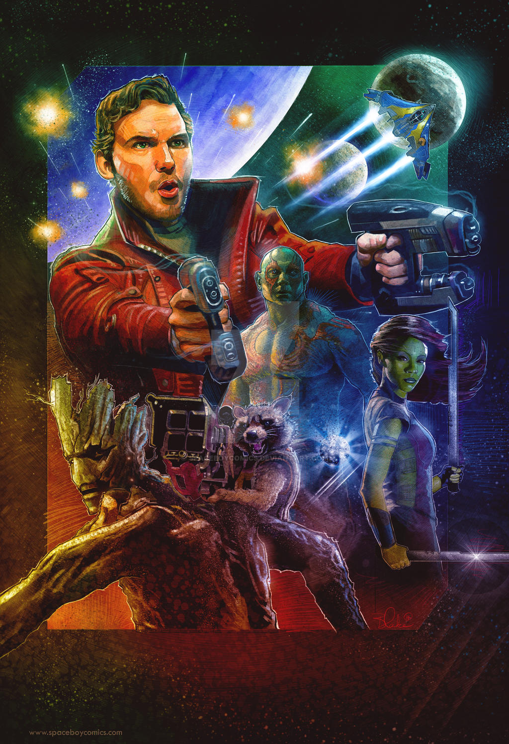 Guardians of the Galaxy Fan Art Poster
