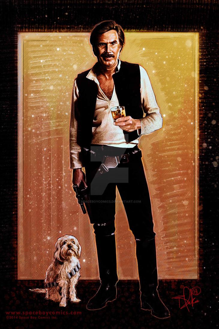 Han Burgundy AKA: Ron Solo by Spaceboycomics