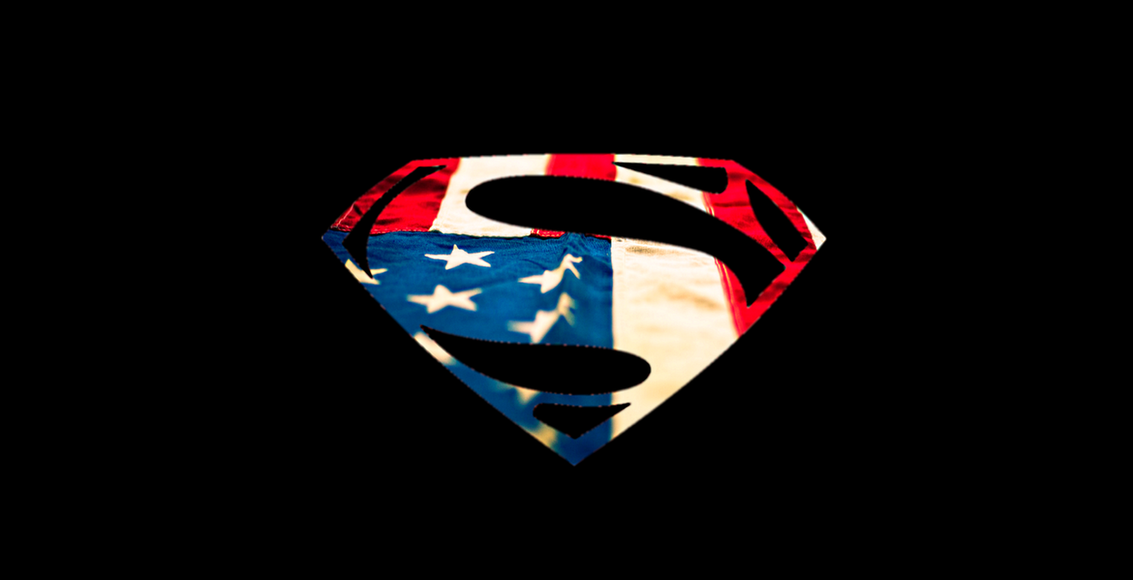 Man Of Steel Symbol American Flag Wallpaper By LKururugi2518