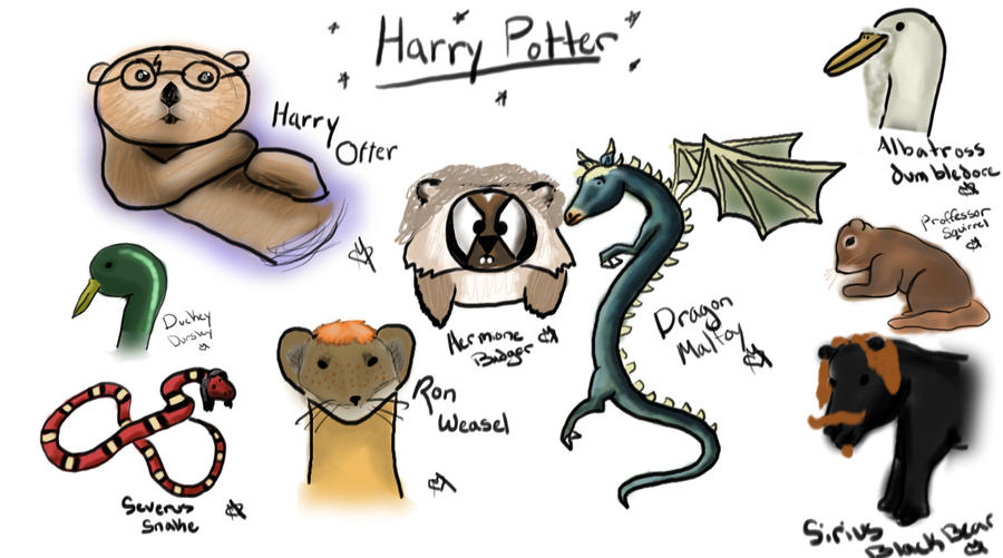 Harry Potter Characters By SnowLepordDragon On DeviantArt