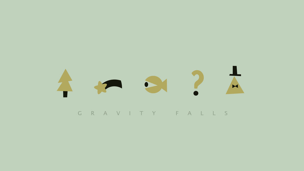 Gravity Falls Minimalist Wallpaper By Radipp On Deviantart